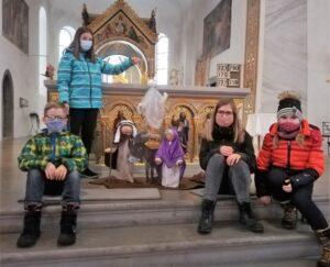 Maria, Josef und der kleine Esel