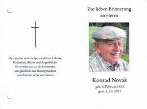 Read more about the article Konrad Novak – ein Steirer mit Sulzbergbezug