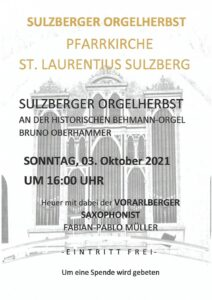 Read more about the article Sulzberger Orgelherbst