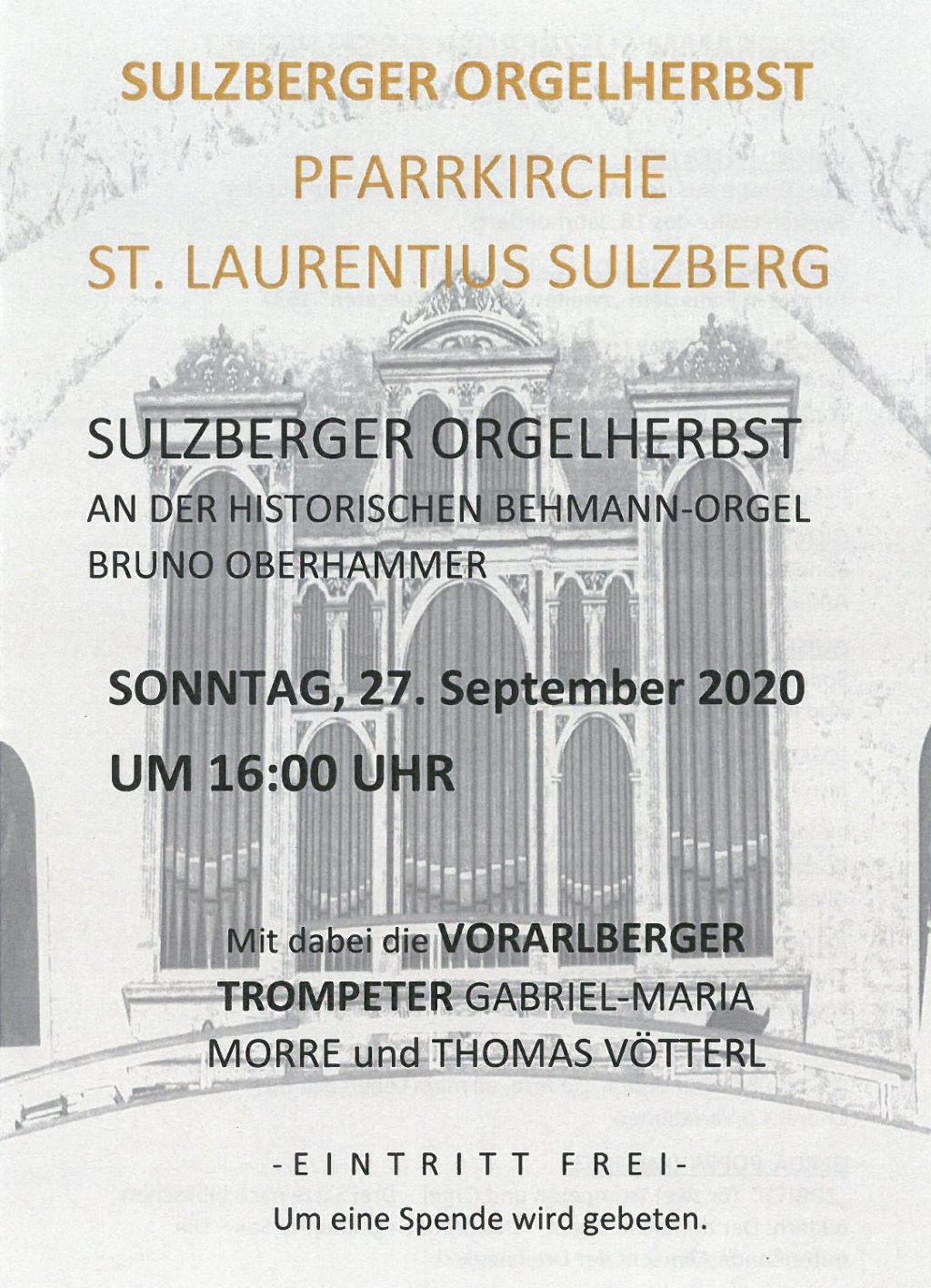 Sulzberger Orgelherbst